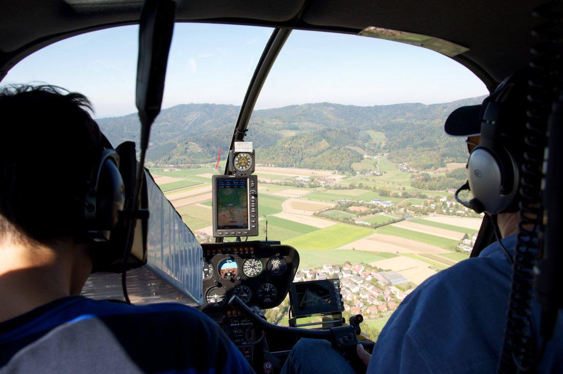 SWR-Schwarzwaldgeschichten Hubschrauber Filmaufnahme